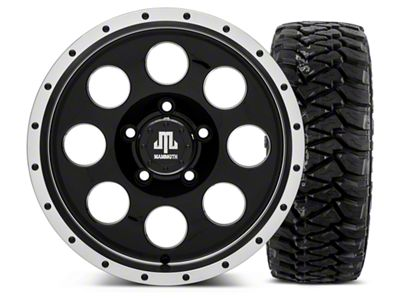Mammoth 8 Beadlock Style Black - 16x8 Wheel - and Mickey Thompson Baja MTZP3 Tire - 305/70R16 (07-18 Jeep Wrangler JK)