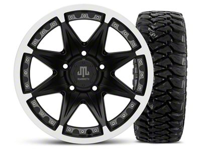 Mammoth Type 88 Black - 16x8 Wheel - and Mickey Thompson Baja MTZP3 Tire - 305/70R16 (07-18 Jeep Wrangler JK)