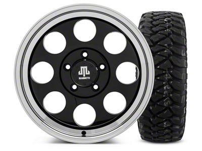 Mammoth 8 Black - 17x9 Wheel - and Mickey Thompson Baja MTZP3 Tire - 285/70R17 (07-18 Jeep Wrangler JK)
