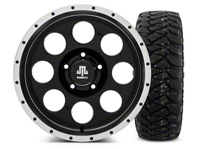Mammoth 8 Beadlock Style Black - 17x9 Wheel - and Mickey Thompson Baja MTZP3 Tire - 285/70R17 (07-18 Jeep Wrangler JK)