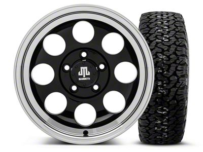Mammoth 8 Black 15x8 Wheel & BF Goodrich All Terrain TA KO2 35x12.5R15 Tire Kit (87-06 Jeep Wrangler YJ & TJ)