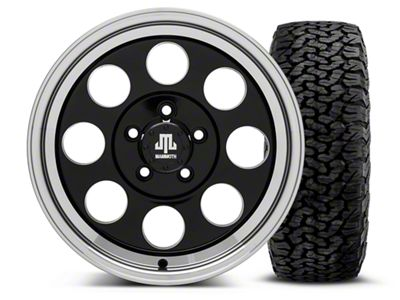 Mammoth 8 Black 16x8 Wheel & BF Goodrich All Terrain TA KO2 305/70R16 Tire Kit (87-06 Jeep Wrangler YJ & TJ)