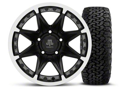Mammoth Type 88 Black - 16x8 Wheel - and BF Goodrich All Terrain TA KO2 Tire - 305/70R16 (07-18 Jeep Wrangler JK)