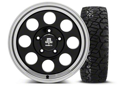 Mammoth 8 Black - 16x8 Wheel - and BF Goodrich All Terrain TA KO2 Tire - 315/75R16 (07-18 Jeep Wrangler JK)