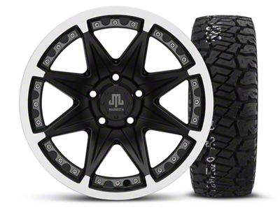 Mammoth Type 88 Black 16x8 Wheel & BF Goodrich All Terrain TA KO2 315/75R16 Tire Kit (87-06 Jeep Wrangler YJ & TJ)