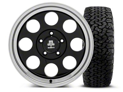 Mammoth 8 Black - 17x9 Wheel - and BF Goodrich All Terrain TA KO2 Tire - 315/70R17 (07-18 Jeep Wrangler JK)