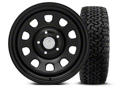 Mammoth 8 Black Steel - 17x9 Wheel - and BF Goodrich All Terrain TA KO2 Tire - 315/70R17 (07-18 Jeep Wrangler JK)