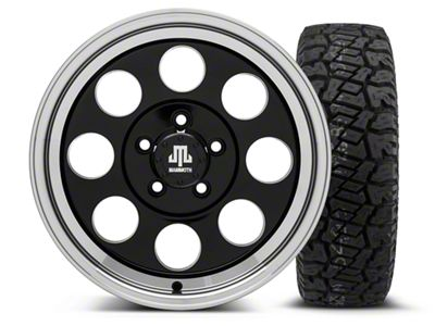 Mammoth 8 Black 16x8 Wheel & Dick Cepek Fun Country 265/75R16 Tire Kit (87-06 Jeep Wrangler YJ & TJ)