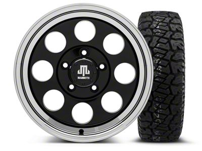 Mammoth 8 Black - 16x8 Wheel - and Dick Cepek Fun Country Tire - 265/75R16 (07-18 Jeep Wrangler JK)