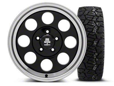 Mammoth 8 Black 16x8 Wheel & Dick Cepek Fun Country 285/75R16 Tire Kit (87-06 Jeep Wrangler YJ & TJ)