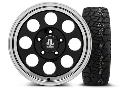 Mammoth 8 Black - 16x8 Wheel - and Dick Cepek Fun Country Tire - 285/75R16 (07-18 Jeep Wrangler JK)
