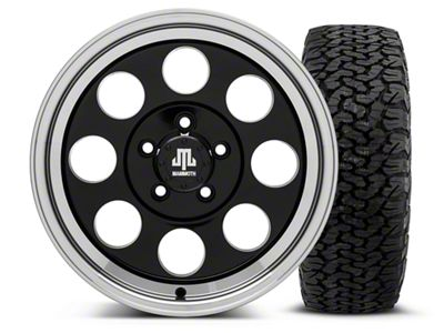Mammoth 8 Black 16x8 Wheel & Dick Cepek Fun Country 315/75R16 Tire Kit (87-06 Jeep Wrangler YJ & TJ)