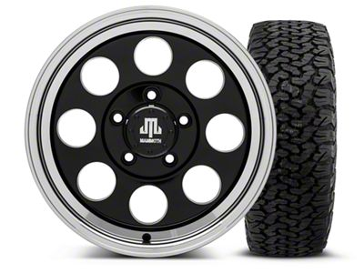 Mammoth 8 Black - 16x8 Wheel - and Dick Cepek Fun Country Tire - 315/75R16 (07-18 Jeep Wrangler JK)