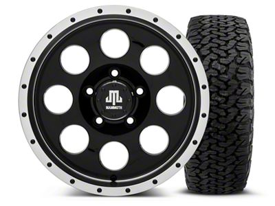 Mammoth 8 Beadlock Style Black - 16x8 Wheel - and Dick Cepek Fun Country Tire - 315/75R16 (07-18 Jeep Wrangler JK)