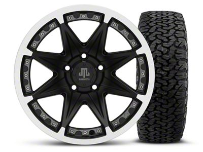 Mammoth Type 88 Black 16x8 Wheel & Dick Cepek Fun Country 315/75R16 Tire Kit (87-06 Jeep Wrangler YJ & TJ)