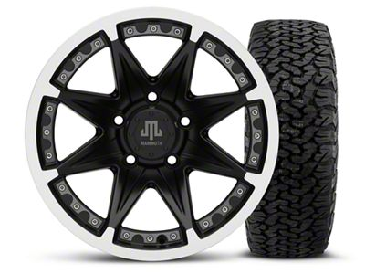 Mammoth Type 88 Black - 16x8 Wheel - and Dick Cepek Fun Country Tire - 315/75R16 (07-18 Jeep Wrangler JK)