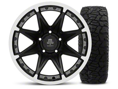 Mammoth Type 88 Black - 17x9 Wheel - and Dick Cepek Fun Country Tire - 315/70R17 (07-18 Jeep Wrangler JK)