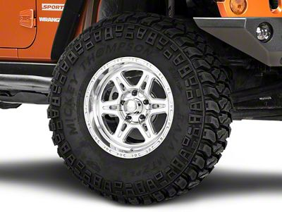 Raceline Renegade Polished Wheel - 17x9 (07-18 Jeep Wrangler JK; 2018 Jeep Wrangler JL)