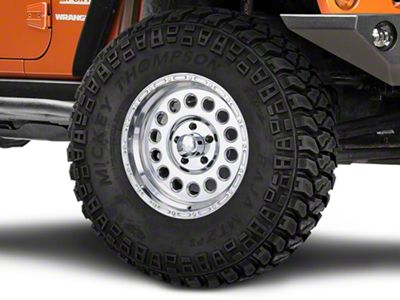 Raceline 887 Rockcrusher Polished Wheel - 17x9 (07-18 Jeep Wrangler JK; 2018 Jeep Wrangler JL)