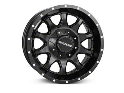 Raceline Shift Black Wheels (07-18 Jeep Wrangler JK; 2018 Jeep Wrangler JL)