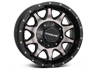 Raceline 930DM Shift Black Machined w/ Dark Tint Wheel - 16x8 (07-18 Jeep Wrangler JK; 2018 Jeep Wrangler JL)