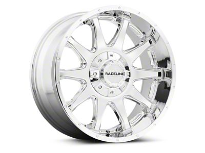 Raceline Shift Chrome Wheels (07-18 Jeep Wrangler JK; 2018 Jeep Wrangler JL)