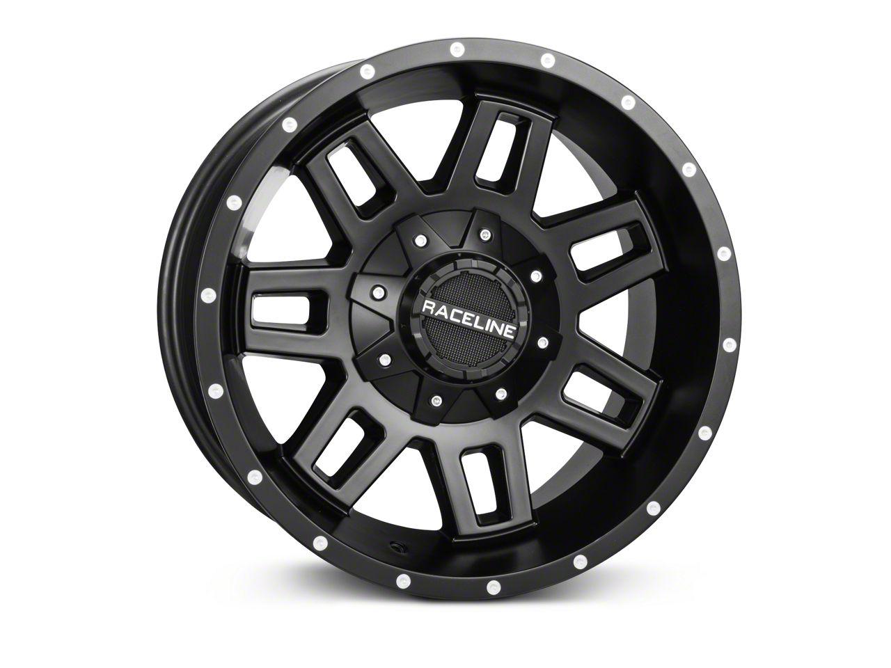 Raceline Injector Black Wheel - 17x9 (07-18 Jeep Wrangler JK)