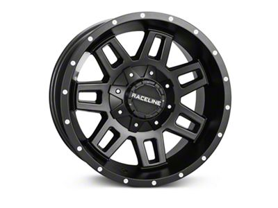 Raceline Injector Black Wheels (07-18 Jeep Wrangler JK; 2018 Jeep Wrangler JL)