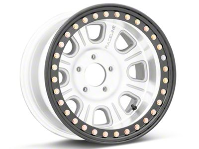 Raceline ST Monster Beadlock Machined & Black Wheels (07-18 Jeep Wrangler JK; 2018 Jeep Wrangler JL)