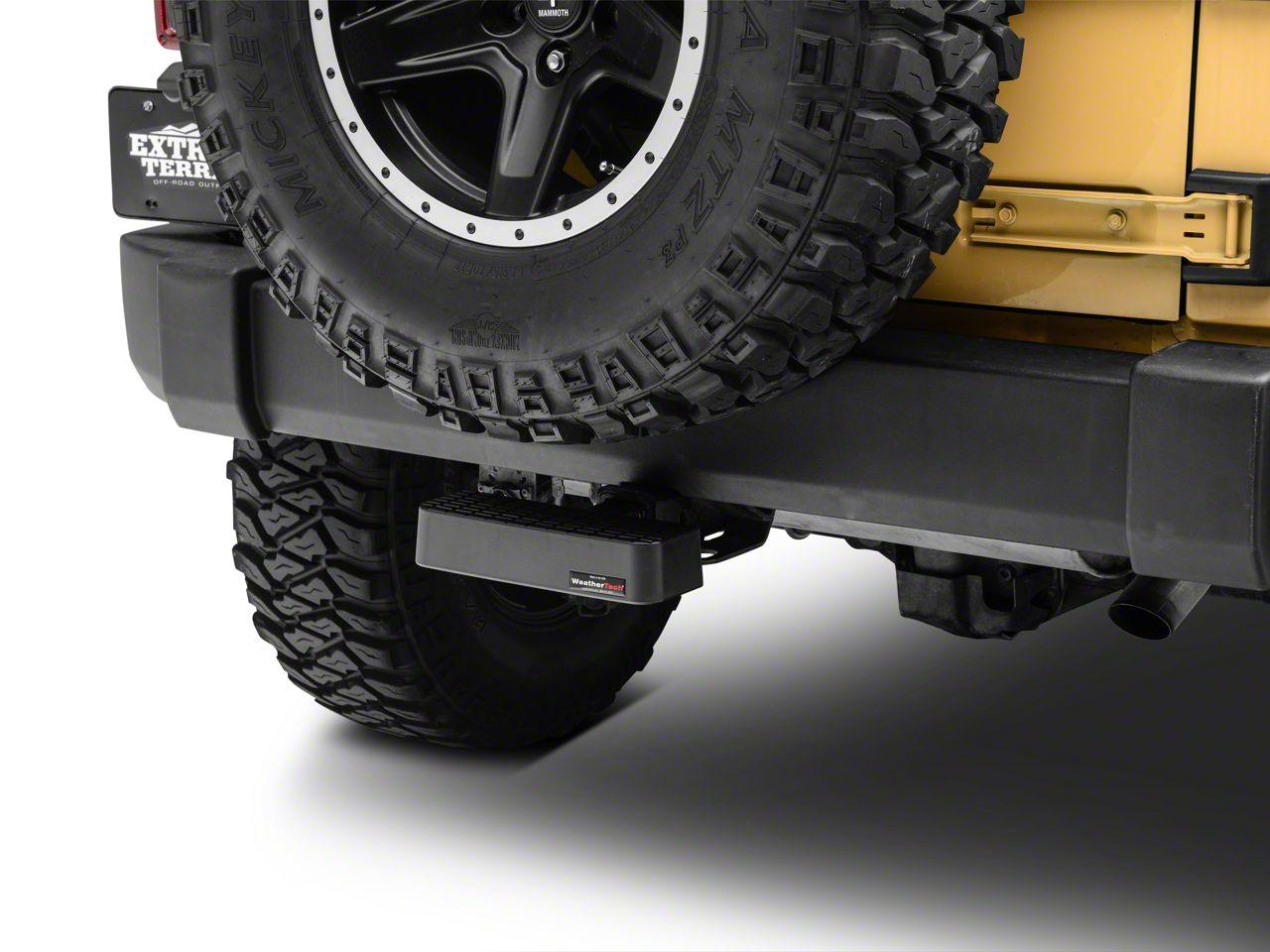 Weathertech Rear Bump Step - Black (87-18 Jeep Wrangler YJ, TJ, JK & JL)