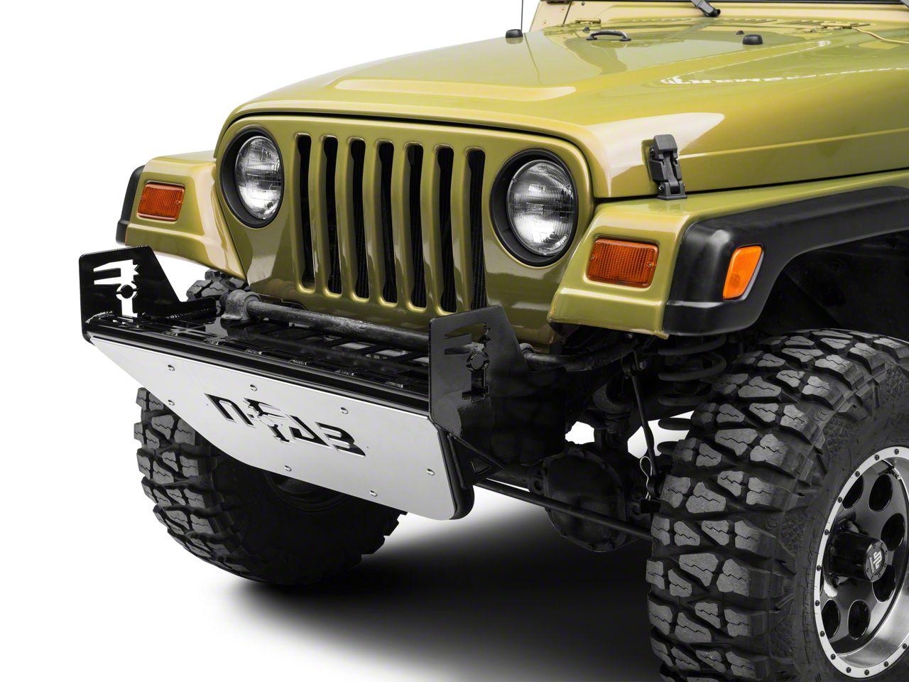 N-Fab RSP Front Bumper - Gloss Black w/ Multi-Mount System (97-06 Jeep Wrangler TJ)