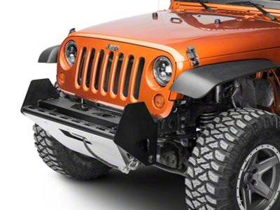 N-Fab RSP Front Winch Bumper - Textured Black w/ Multi-Mount System (07-18 Jeep Wrangler JK)
