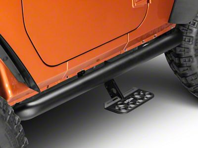 N-Fab AdjustSTEP - Textured Black (12-18 Jeep Wrangler JK 2 Door)