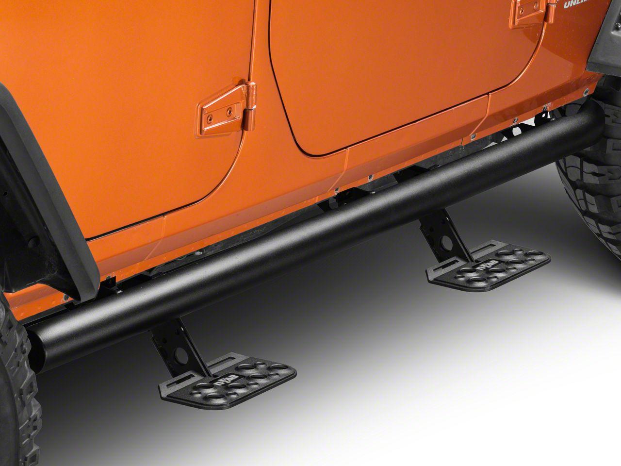 N-Fab AdjustSTEP - Textured Black (07-18 Jeep Wrangler JK 4 Door)