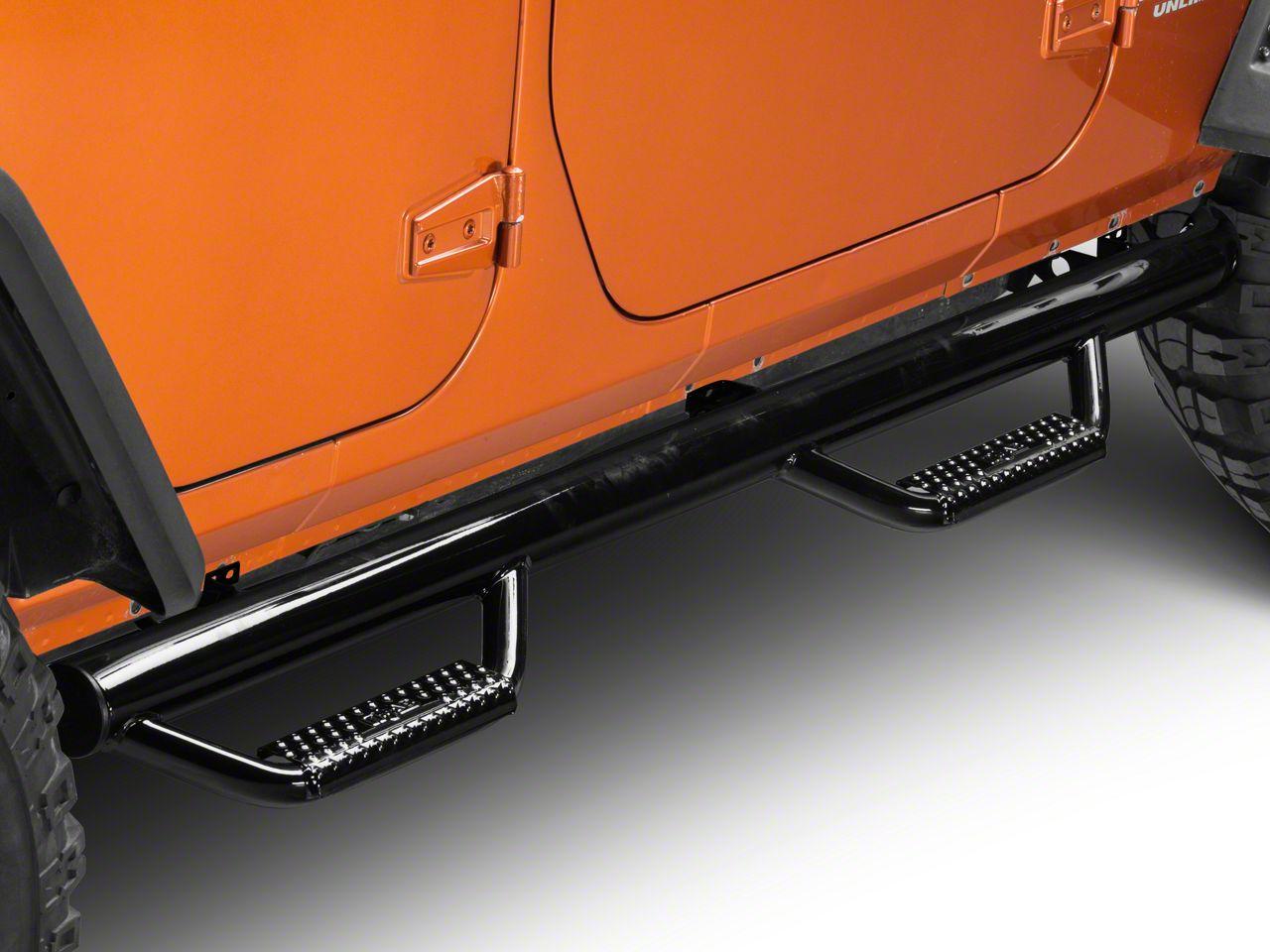 N-Fab Nerf Steps - Gloss Black (07-18 Jeep Wrangler JK 4 Door)