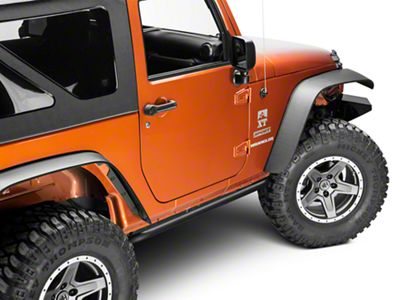 N-Fab Rock Rail - Textured Black (07-18 Jeep Wrangler JK 2 Door)