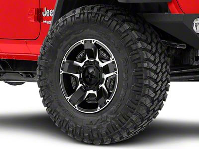 Rockstar XD811 RS2 Black Machined Wheel - 17x9 (18-19 Jeep Wrangler JL)