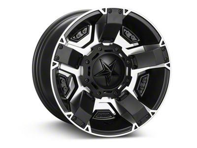 Rockstar XD811 RS2 Black Machined Wheel - 17x9 (07-18 Jeep Wrangler JK; 2018 Jeep Wrangler JL)