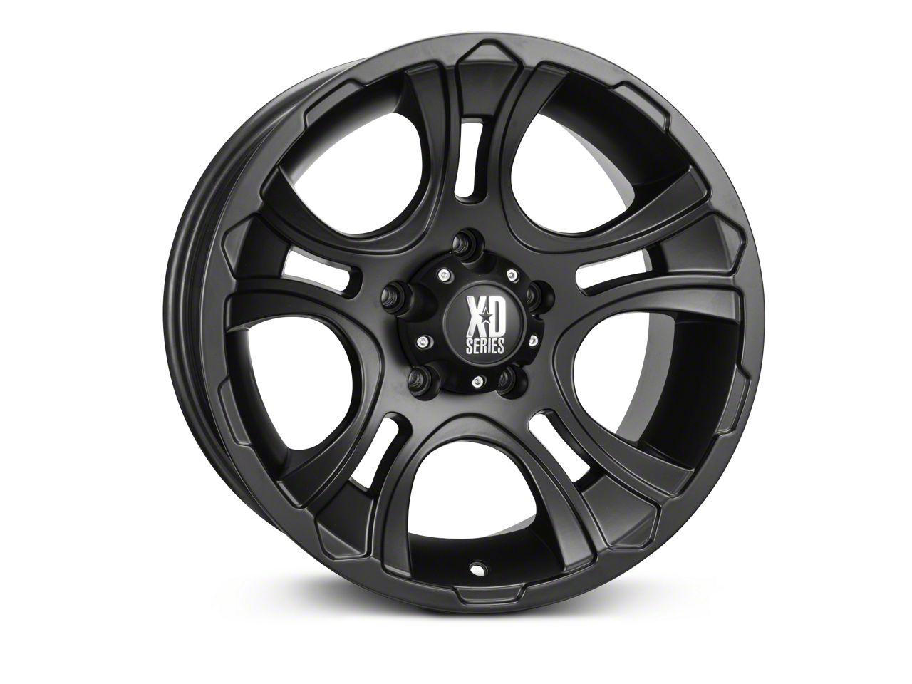 XD Crank Matte Black Wheel - 17x9 (07-18 Jeep Wrangler JK; 2018 Jeep Wrangler JL)