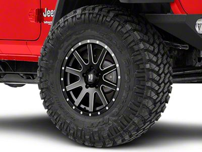 XD Heist Satin Black Milled Wheel - 17x9 (18-19 Jeep Wrangler JL)
