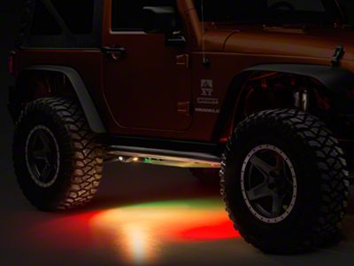 Oracle Bluetooth ColorSHIFT Underbody Rock Light Kit (87-18 Jeep Wrangler YJ, TJ, JK & JL)