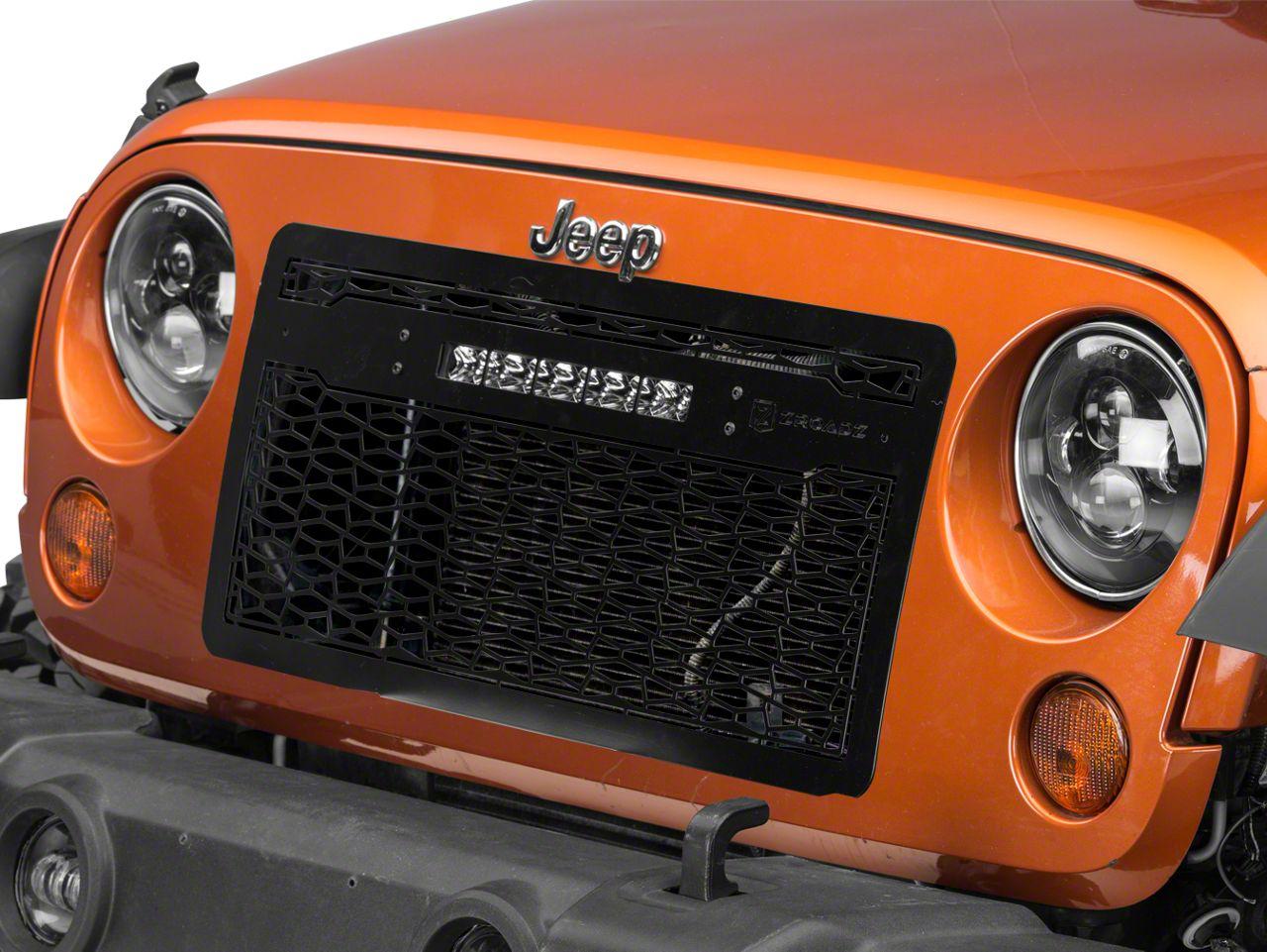 T-REX ZROADZ Series Grille w/ 10 in. Center Mounted Slim LED Light Bar (07-18 Jeep Wrangler JK)