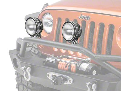 Rugged Ridge 6 in. Round HID Off-Road Fog Lights - Pair (87-18 Jeep Wrangler YJ, TJ & JK)