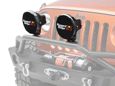 Rugged Ridge 7 in. HID Off-Road Light Covers - Black (87-18 Jeep Wrangler YJ, TJ, JK & JL)