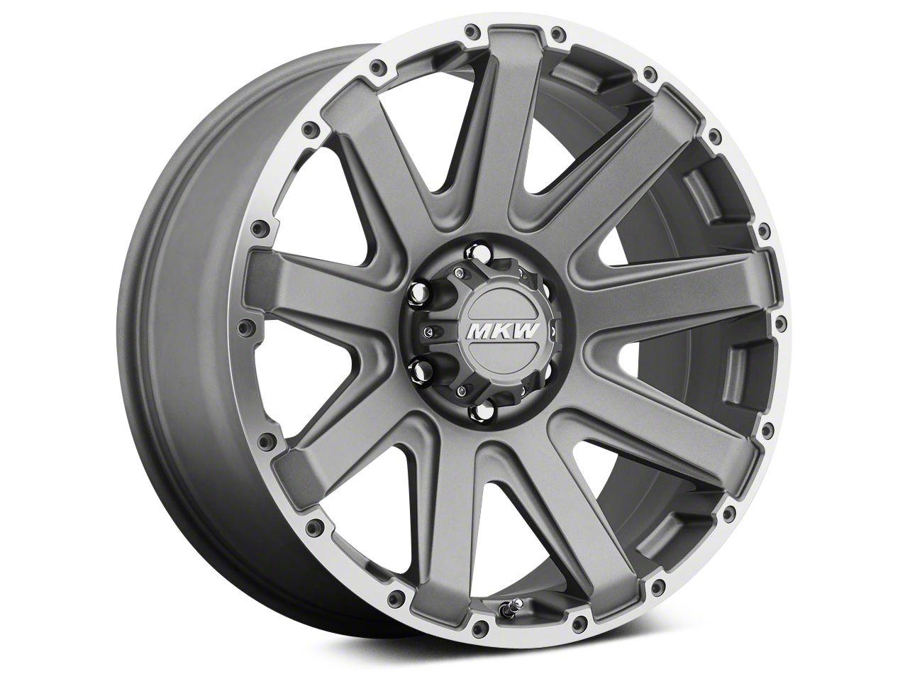 MKW Offroad M94 Gray w/ Machined Ring Wheel - 18x9 (07-18 Jeep Wrangler JK; 2018 Jeep Wrangler JL)