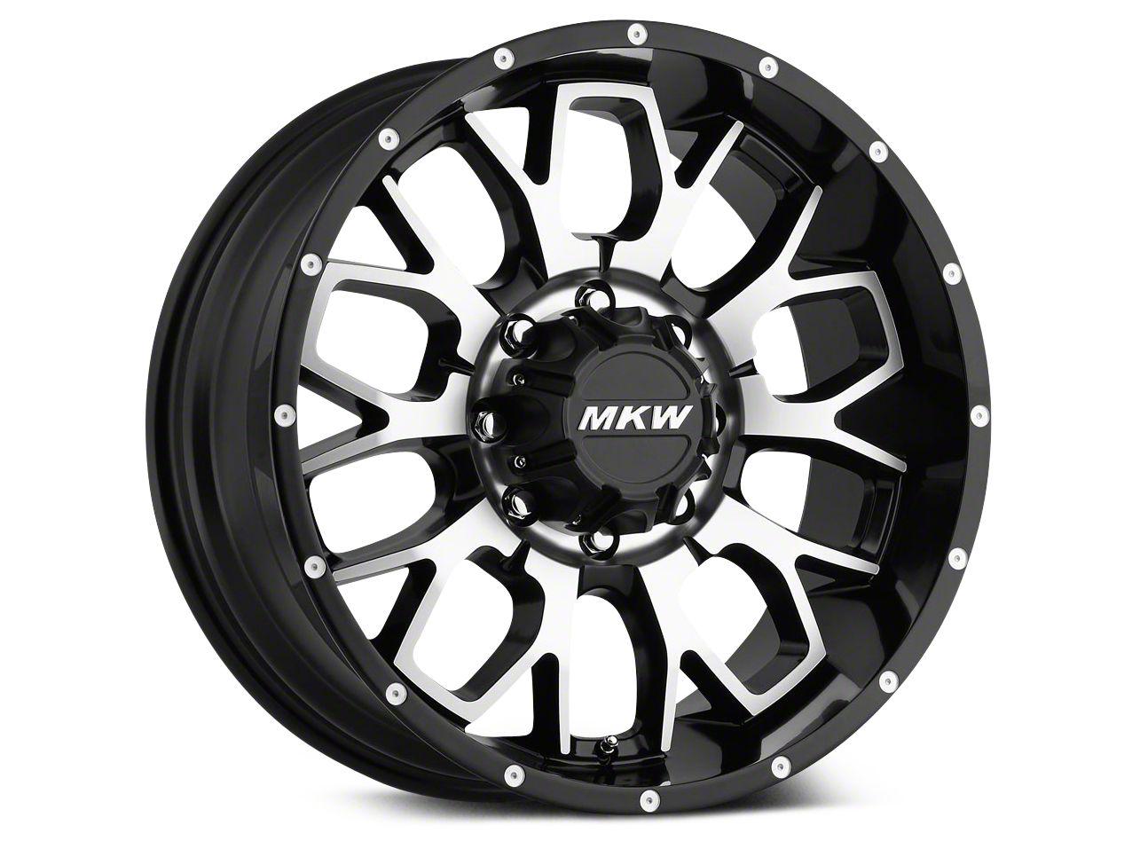 MKW Offroad M95 Satin Black Machined Wheel - 18x9 (07-18 Wrangler JK)
