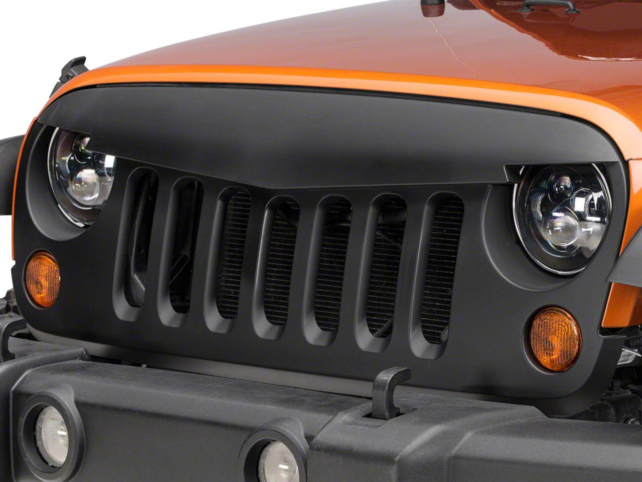 RedRock 4x4 Defender Grille - Matte Black (07-18 Jeep Wrangler JK)