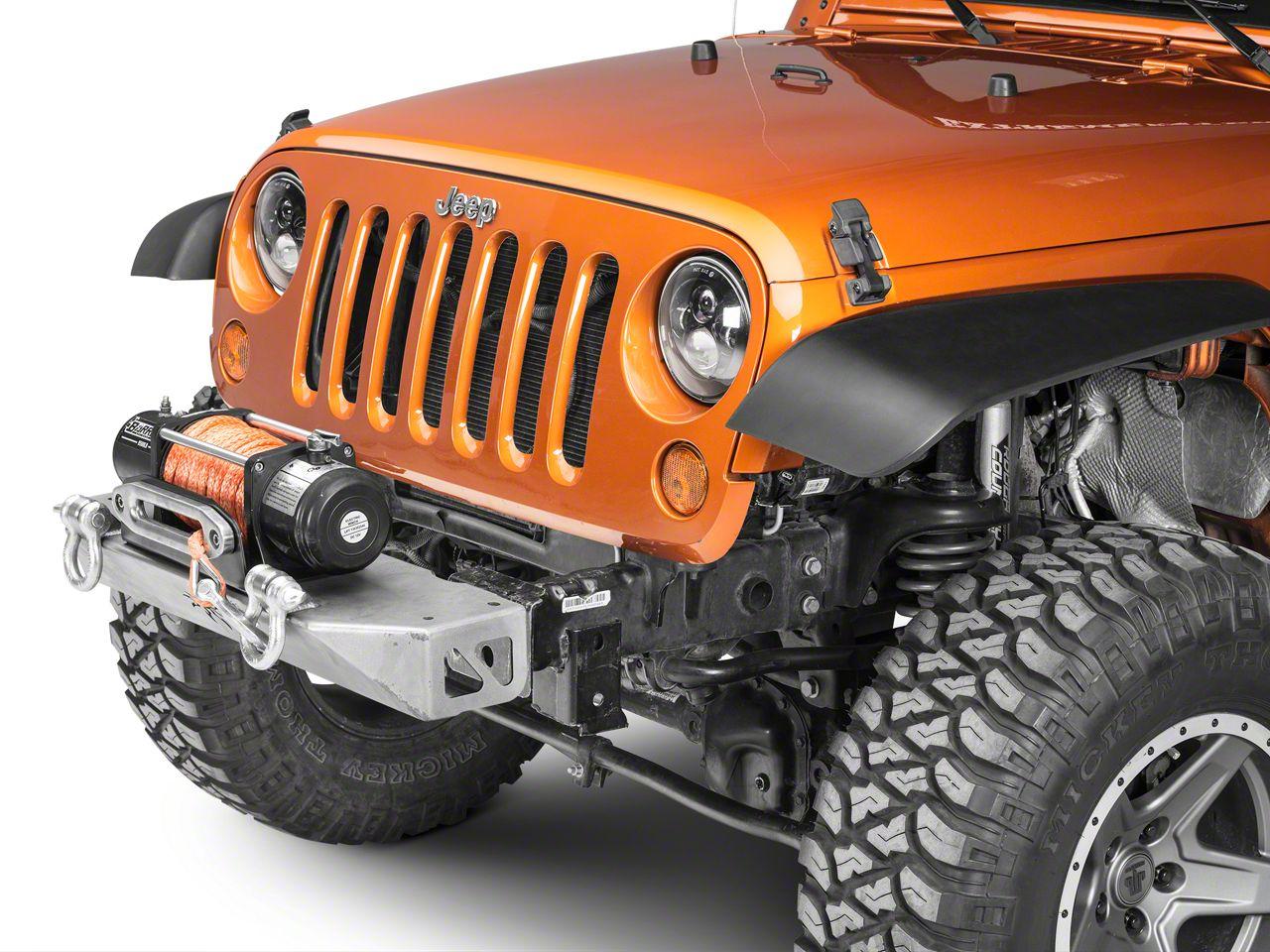 Poison Spyder BFH Front Bumper - Bare Steel (07-18 Jeep Wrangler JK)