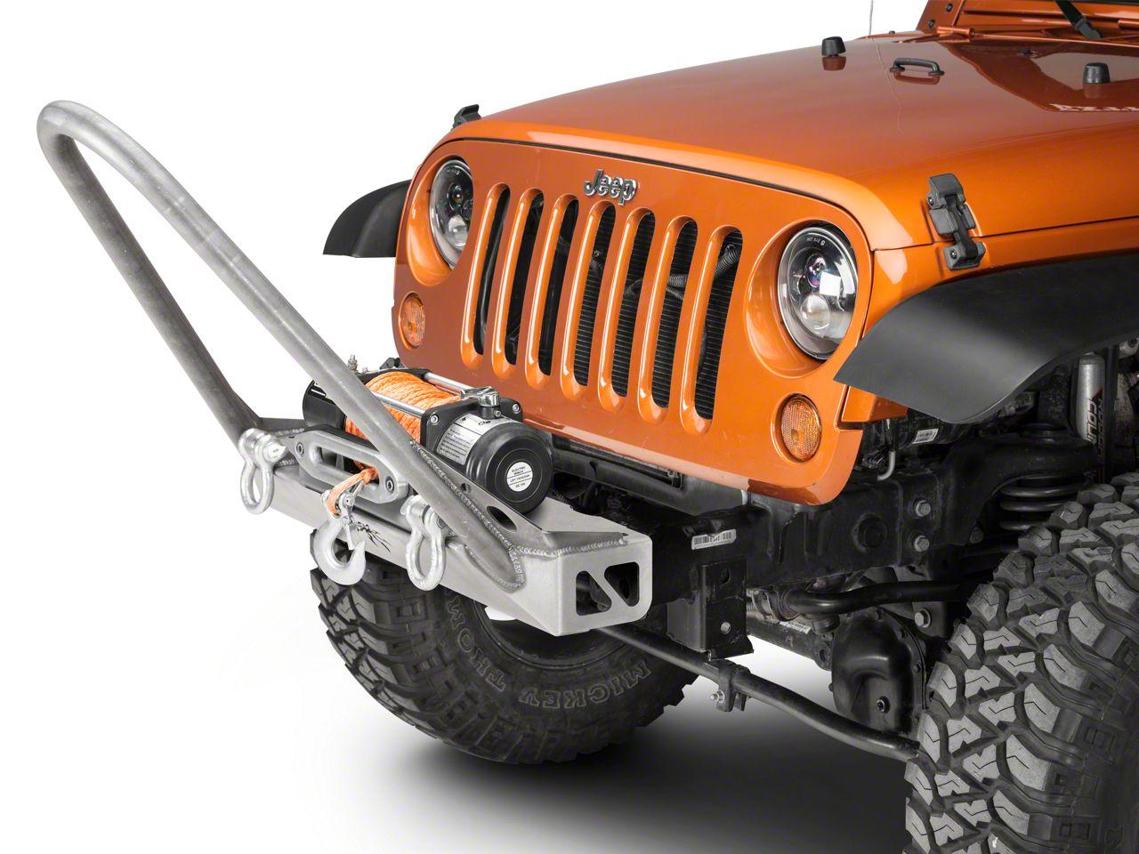 Poison Spyder BFH Front Bumper w/ Comp Stinger - Bare Steel (07-18 Jeep Wrangler JK)