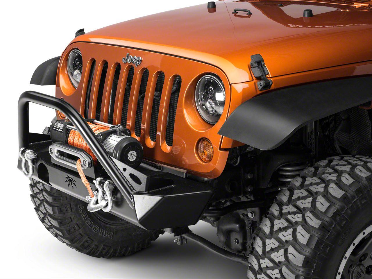 Poison Spyder Brawler Lite Front Bumper w/ Brawler Bar - SpyderShell Armor Coat (07-18 Jeep Wrangler JK)